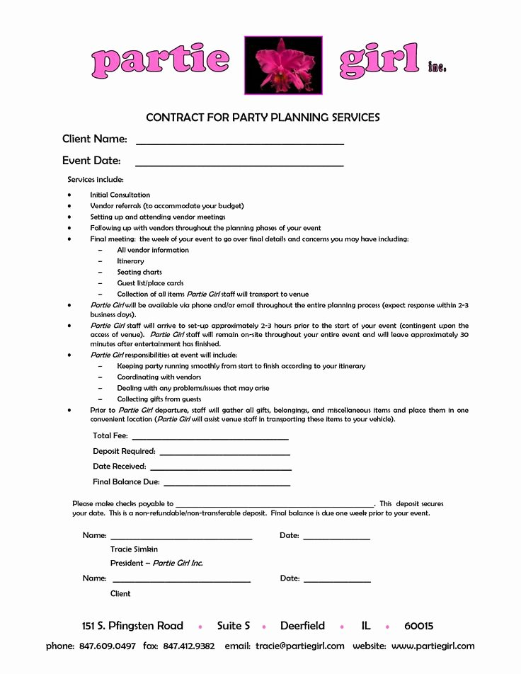 Event Planner Contract Template Elegant 25 Best Ideas About Party Planners On Pinterest
