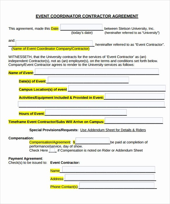 Event Planner Contract Template Fresh Image Result for Contracts for event Planners Templates