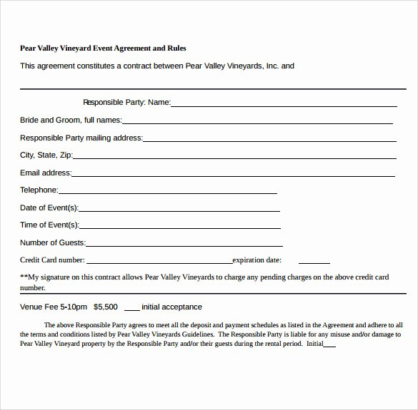 Event Planner Contract Template Lovely 19 event Contract Templates to Download for Free