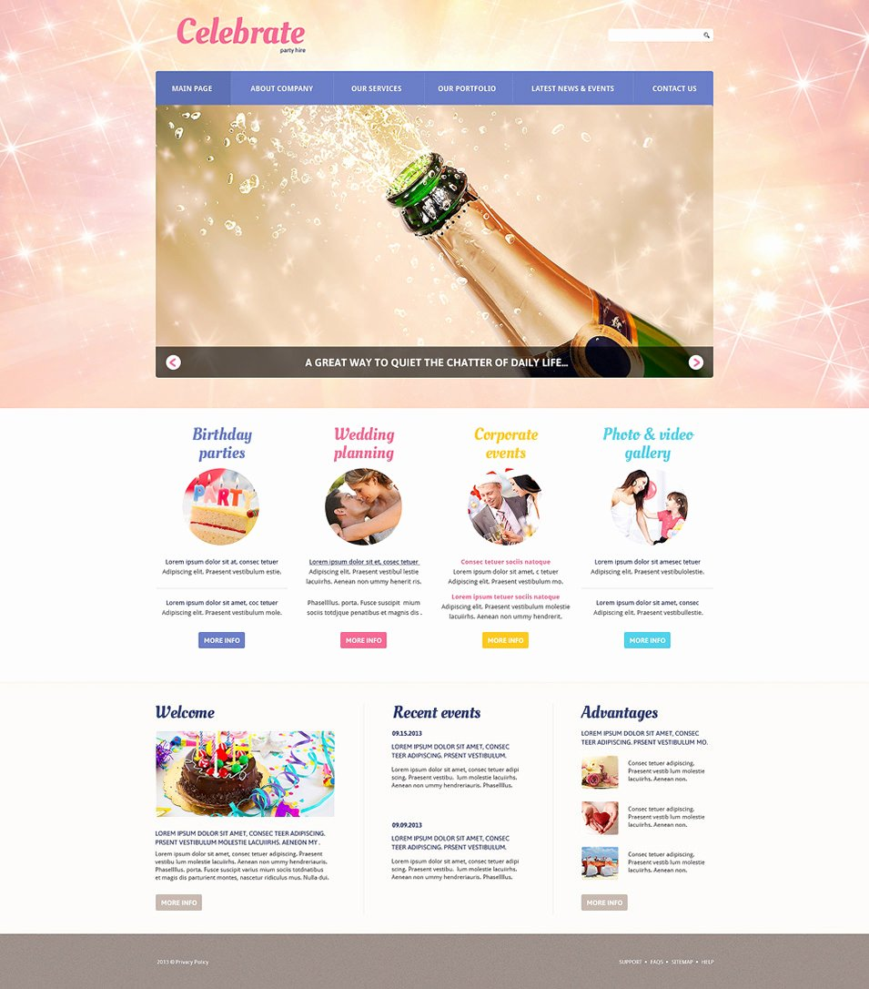 Event Planner Website Template Beautiful 33 event Planning Website themes & Templates
