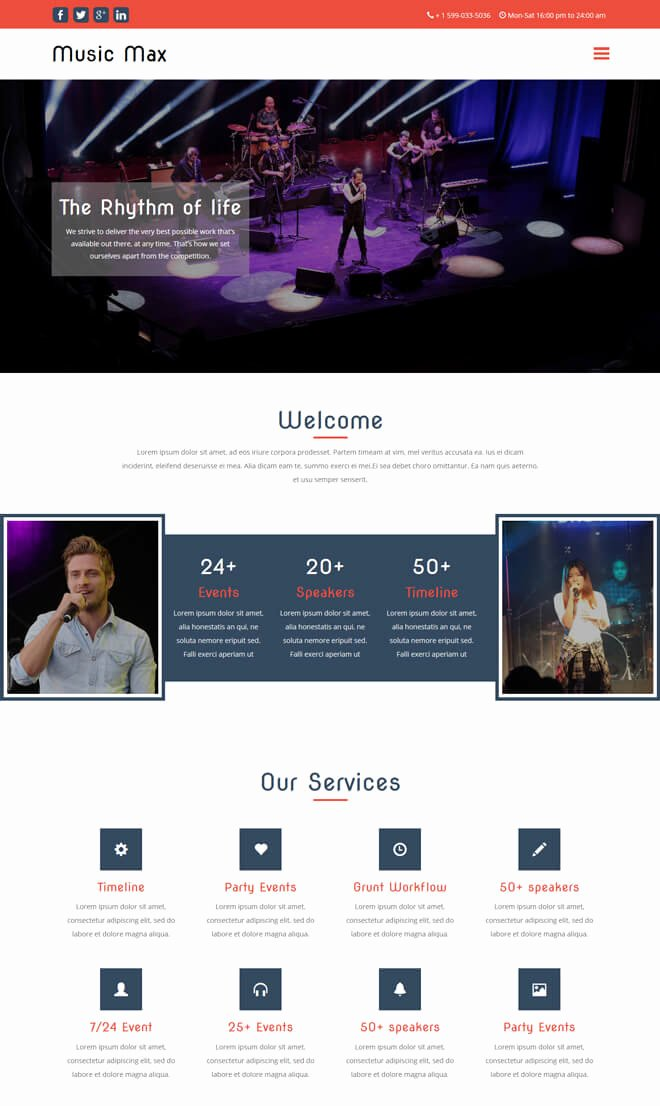 Event Planner Website Template Elegant Free event Bootstrap Template List Of Best Quality HTML5