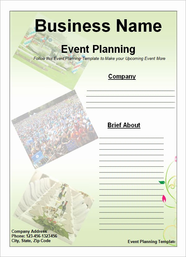 Event Planner Website Template Inspirational event Planning Template 11 Free Documents In Word Pdf Ppt