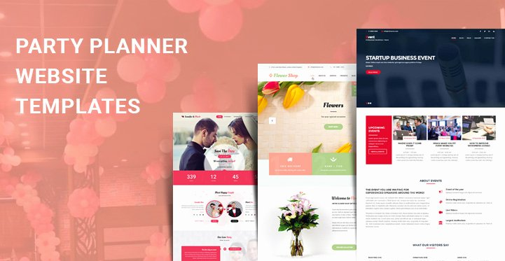 Event Planner Website Template Inspirational Party Planner Wordpress themes for events and Party