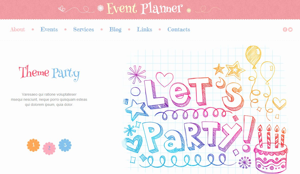 Event Planner Website Template Lovely Best Party Wordpress theme and event Planning Website