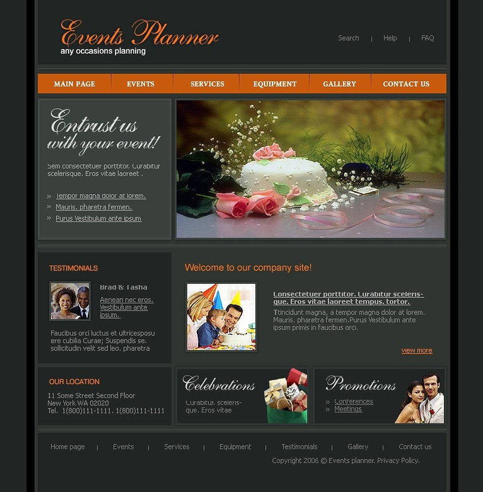 Event Planner Website Template Luxury event Planner Website Template