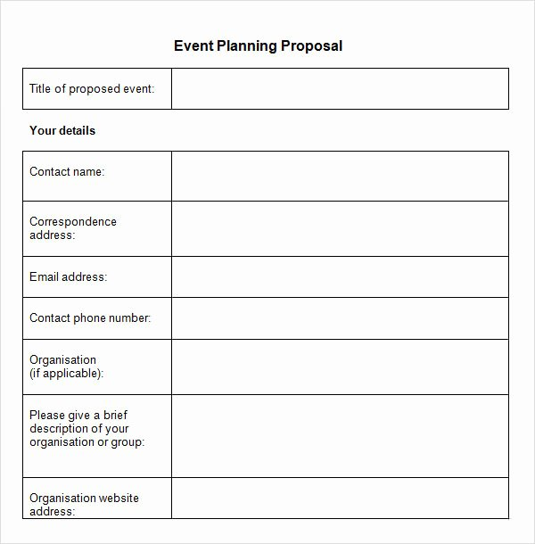 Event Planning form Template Fresh Sample event Proposal Template 15 Free Documents In Pdf