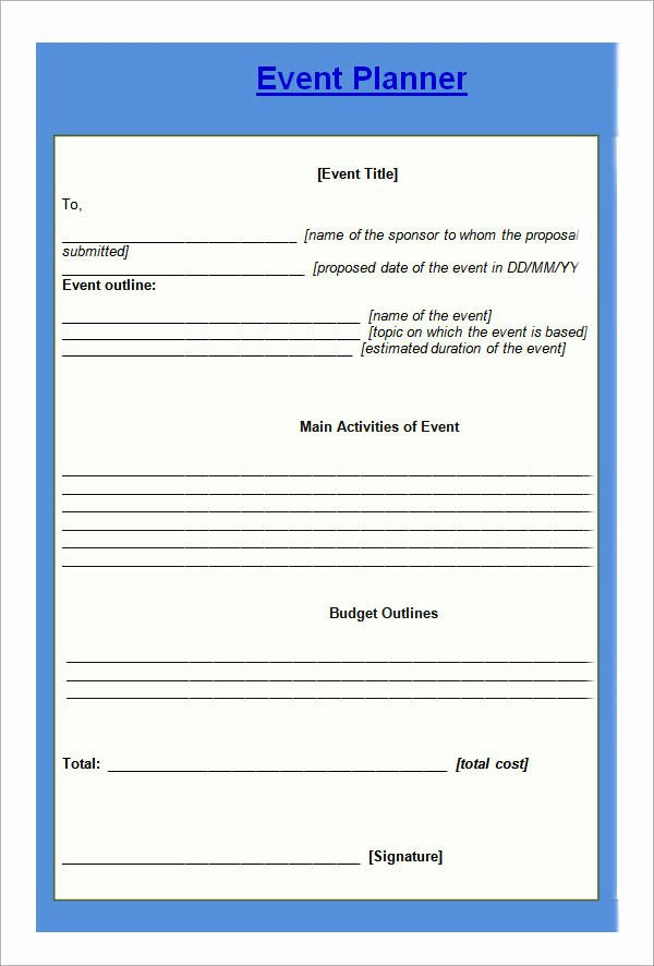 Event Planning form Template Inspirational 10 Sample event Planning Templates – Pdf Ppt Doc