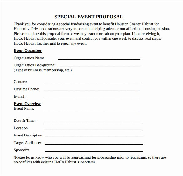Event Planning form Template New 25 Sample event Proposal Templates – Psd Pdf Word