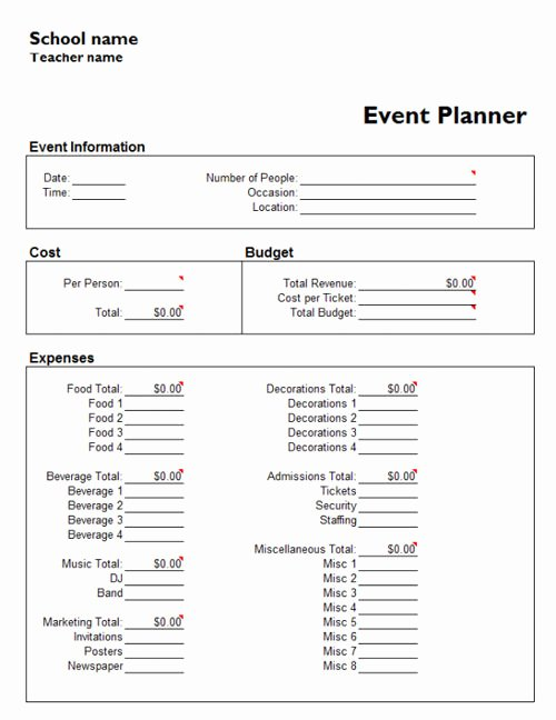 Event Planning form Template Unique Useful Microsoft Word & Microsoft Excel Templates Hongkiat