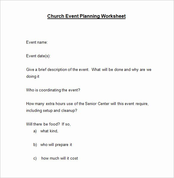Event Planning Guide Template Fresh 5 event Planning Worksheet Templates – Free Word