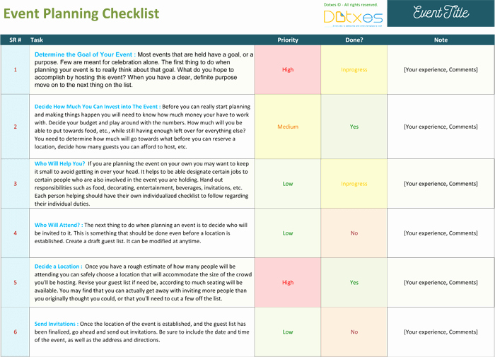 Event Planning Guide Template New event Planning Checklist to Keep Your event Track