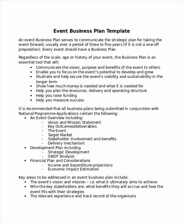 Event Planning Proposal Template Luxury 13 Business Plans Free Sample Example format