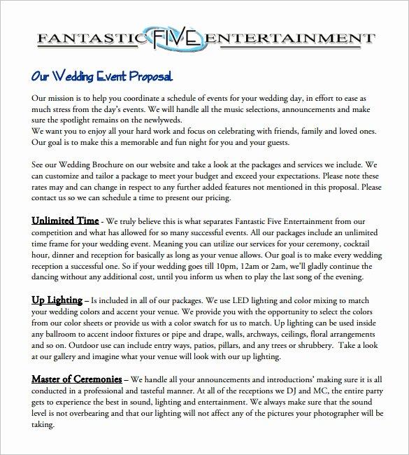 Event Planning Proposal Template Unique 28 event Proposal Templates Pdf Doc