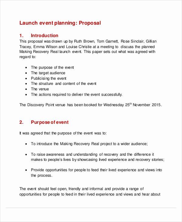 Event Planning Proposal Template Unique 52 event Proposal Samples