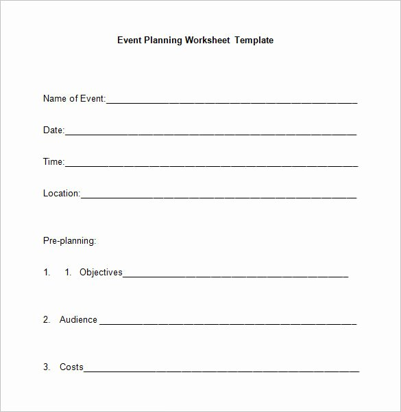 Event Planning Template Pdf Best Of 5 event Planning Worksheet Templates – Free Word