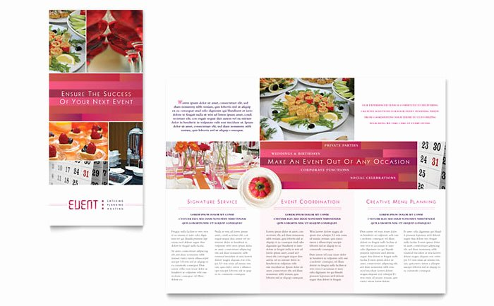 Event Planning Template Pdf Best Of Corporate event Planner & Caterer Tri Fold Brochure