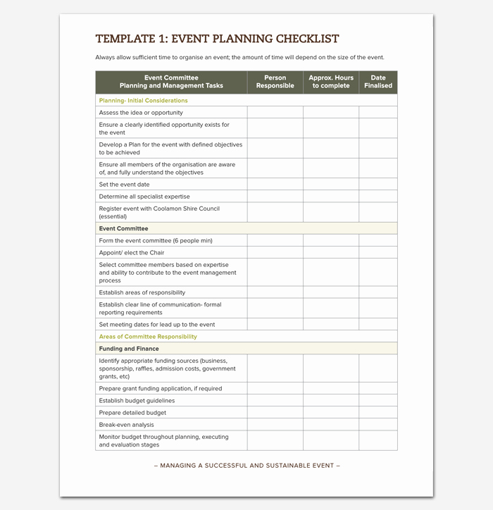 Event Planning Template Pdf Best Of event to Do List Template 40 Checklists In Word Excel