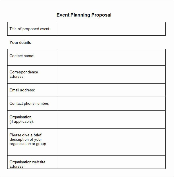 Event Planning Template Pdf Luxury event Planning Proposal Example Pdf Templates Resume