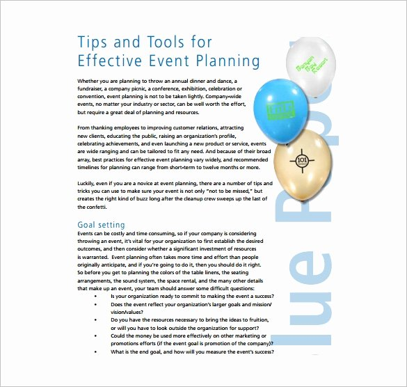 Event Planning Template Pdf New 11 event Planning Templates – Free Sample Example