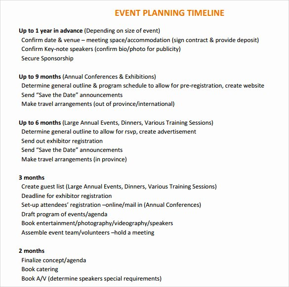 Event Planning Timeline Template Inspirational 10 event Timeline Templates for Free Download