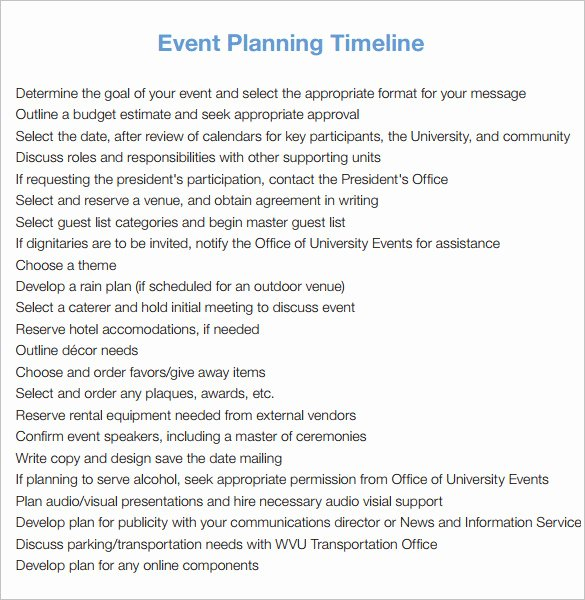 Event Planning Timeline Template Inspirational 9 event Timeline Templates – Free Sample Example format