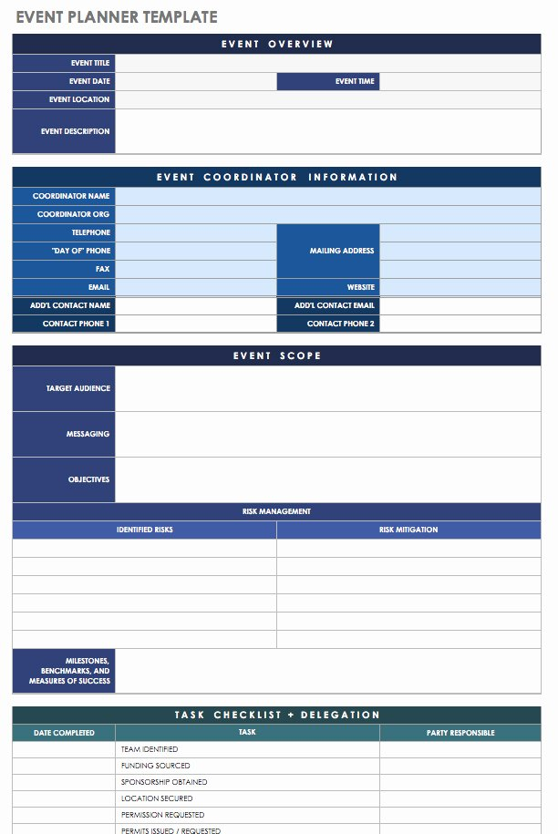 Event Planning Worksheet Template Awesome 21 Free event Planning Templates
