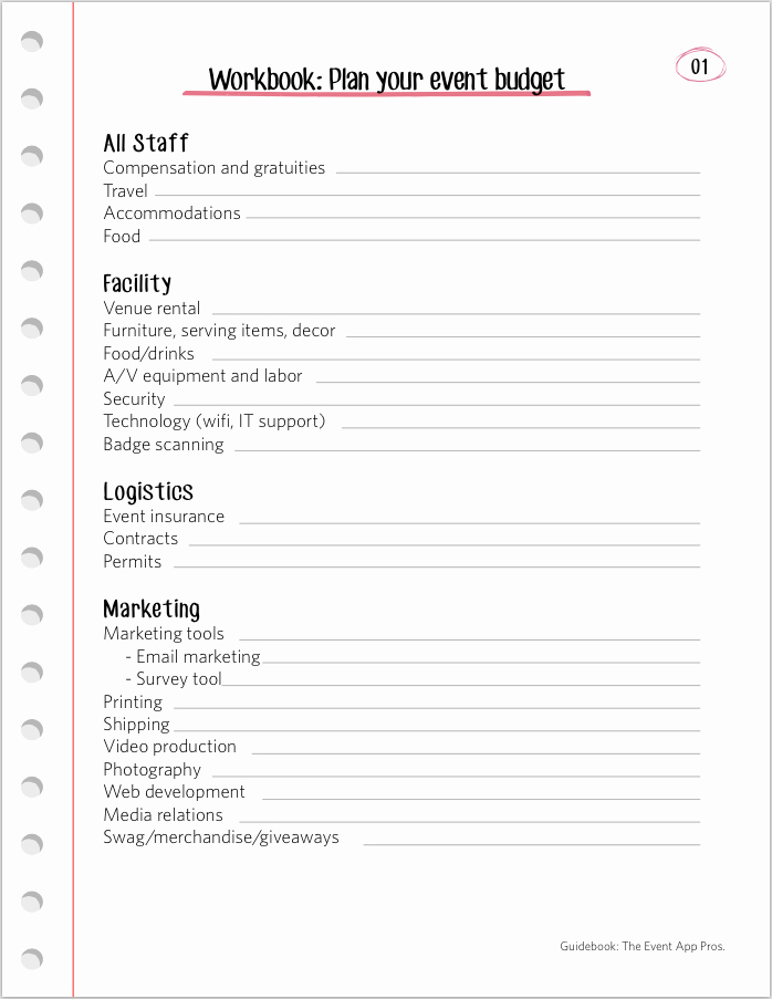 Event Planning Worksheet Template Awesome We Found All the Best event Bud Templates