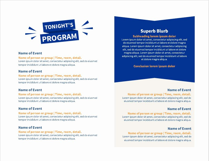 Event Program Template Word Best Of Diy toolkit and Templates