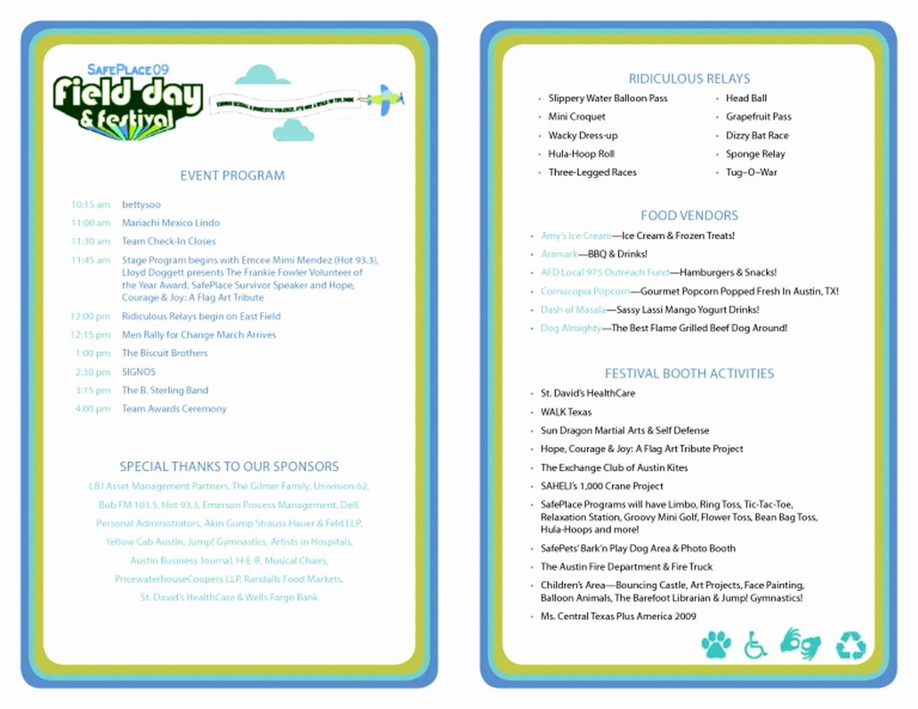 Event Program Template Word Best Of event Program Template