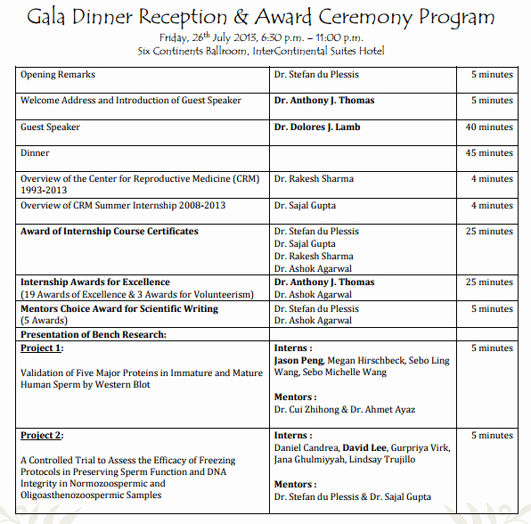 Event Program Template Word Fresh 4 Awards event Program Templates formats Examples In