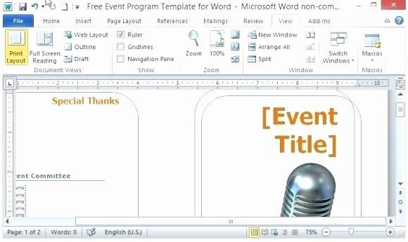 Event Program Template Word Lovely Wedding Booklet Template Program Templates Word Indesign