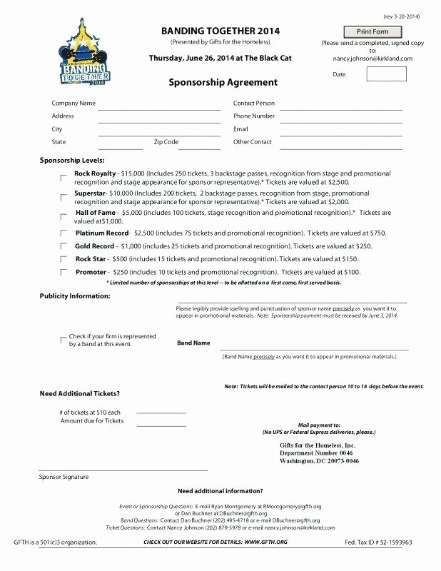Event Sponsorship Agreement Template Elegant Sponsorship Agreement Template – Emailers