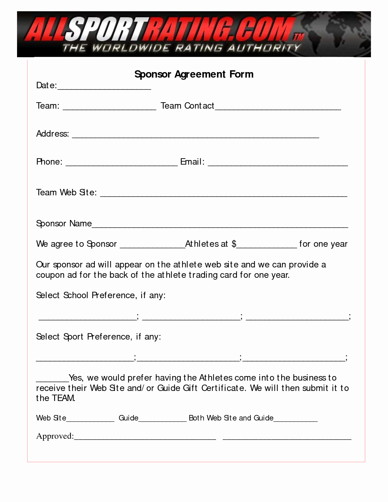 Event Sponsorship Agreement Template Inspirational 10 Best Of Sponsorship Agreement Template