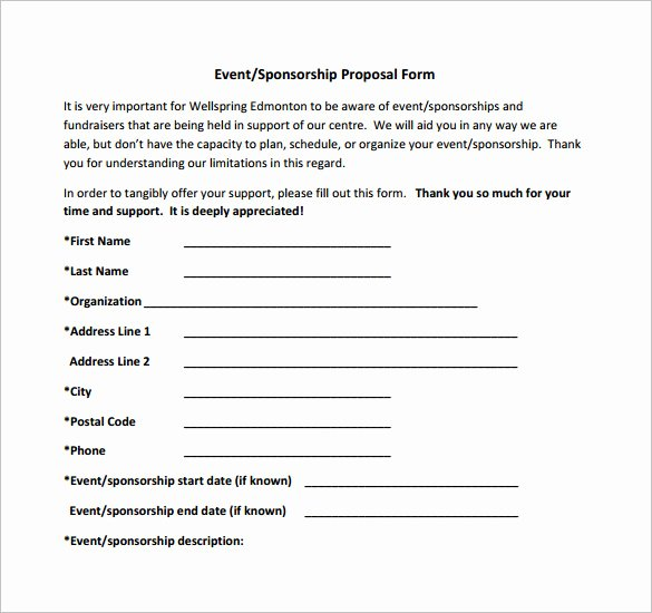 Event Sponsorship Agreement Template Unique Sponsorship Proposal Template 21 Free Word Excel Pdf