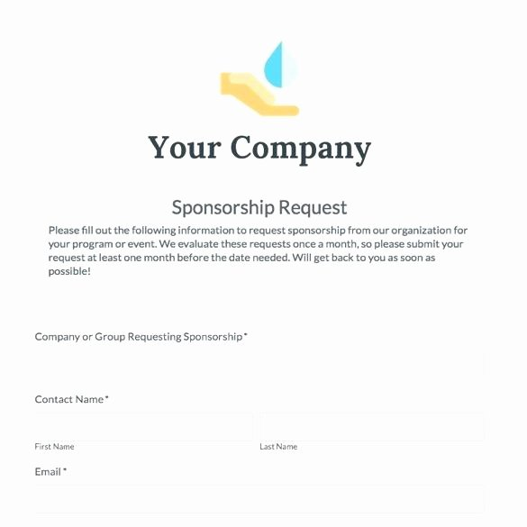 Event Sponsorship form Template Lovely Example A Sponsorship Letter Requesting In Kind