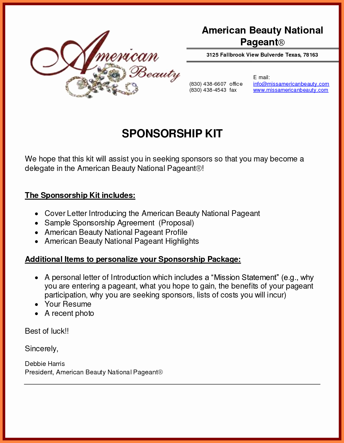 Event Sponsorship form Template New Sponsorship Packages Templates Portablegasgrillweber