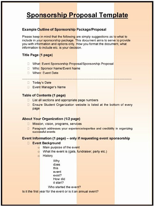 Event Sponsorship Proposal Template Awesome Sample Sponsorship Proposal Template