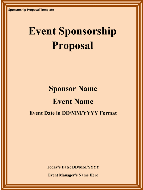 Event Sponsorship Proposal Template Best Of Sponsorship Proposal Template