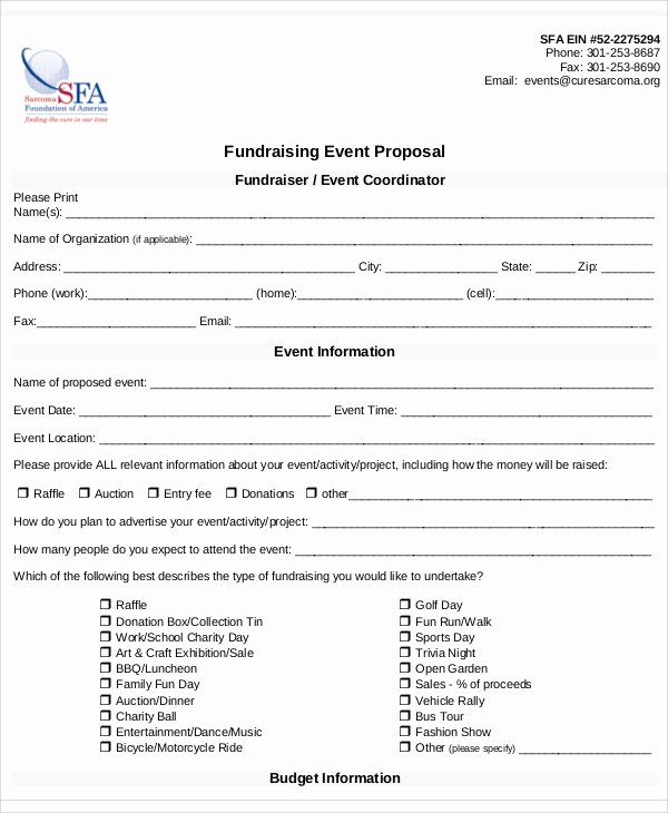 Event Sponsorship Proposal Template Unique 8 Fundraising event Proposal Templates Word Pdf Pages