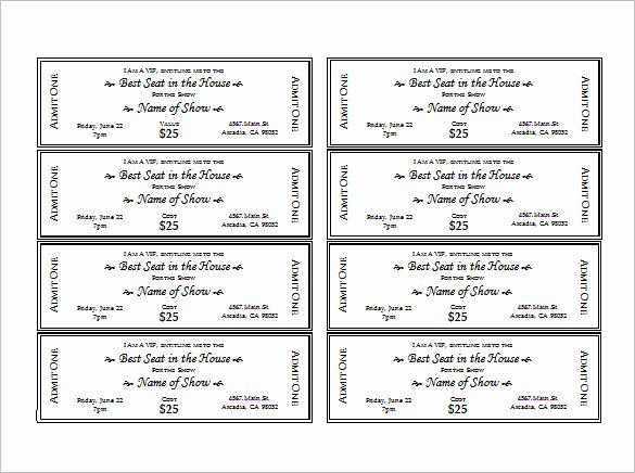 Event Ticket Template Free Beautiful Ticket Templates – 99 Free Word Excel Pdf Psd Eps