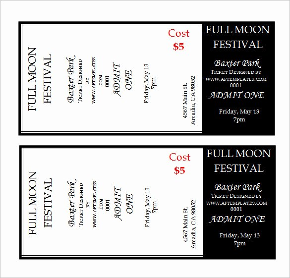 Event Ticket Template Free Elegant 115 Ticket Templates Word Excel Pdf Psd Eps
