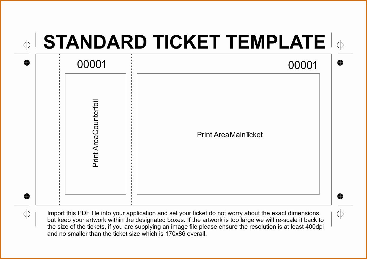 Event Ticket Template Free Luxury 11 Free Printable Raffle Ticket Template