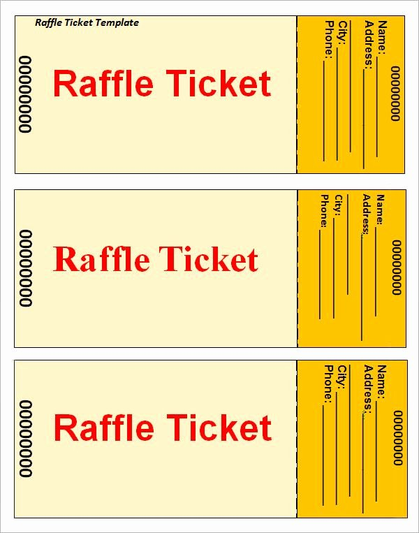 Event Ticket Template Free Unique Raffle Ticket Template … Printable Templates
