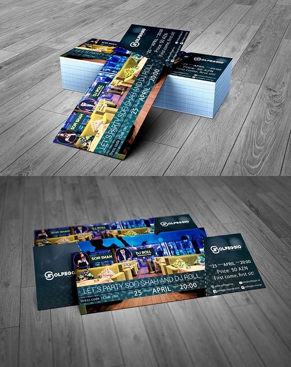 Event Ticket Template Photoshop Awesome event Ticket Free Psd Template Free Psd Files