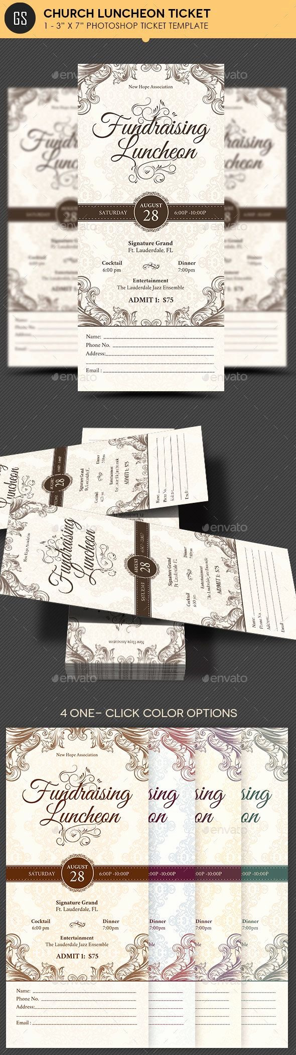 Event Ticket Template Photoshop Beautiful Church Luncheon Ticket Template
