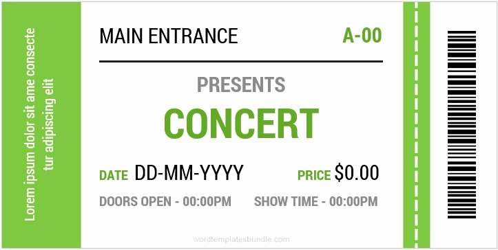 Event Ticket Template Photoshop Beautiful event Ticket Template Printable Editable Free Download