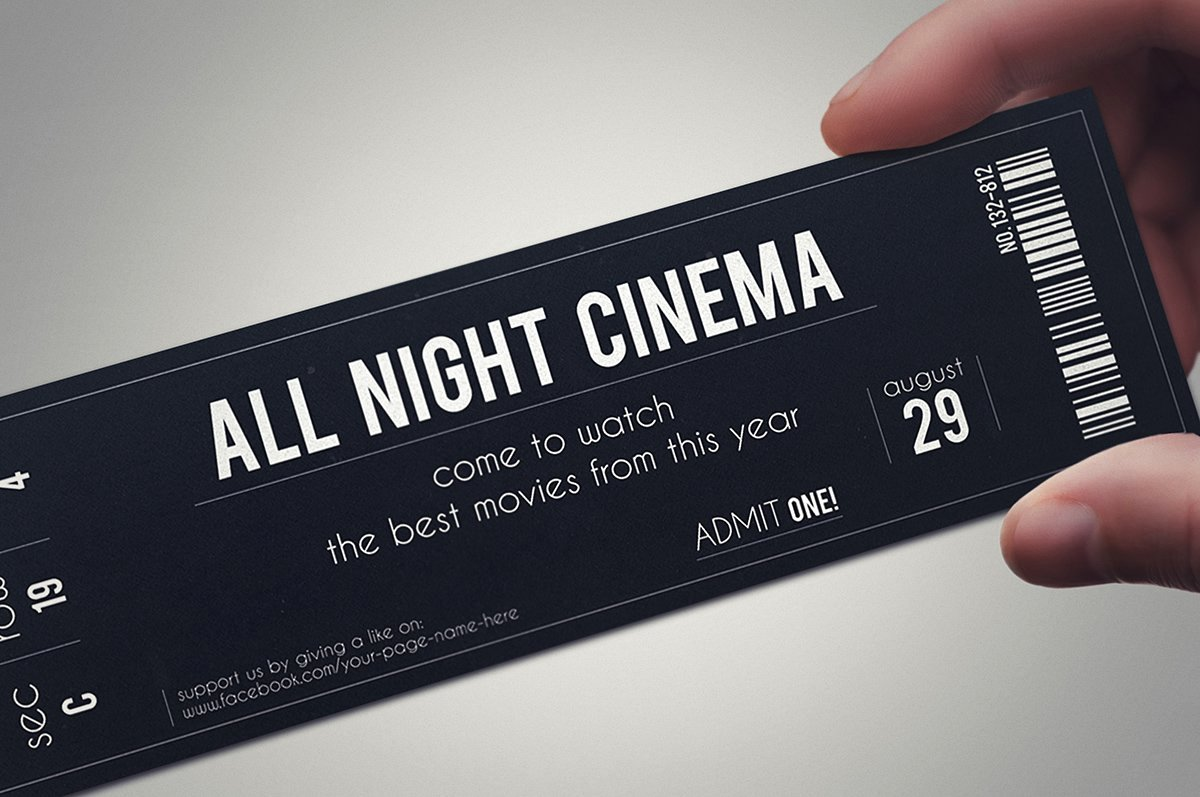 Event Ticket Template Photoshop Beautiful Stylish Fabric Ticket Template Card Templates Creative