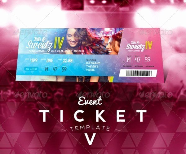 Event Ticket Template Photoshop Elegant 46 Print Ready Ticket Templates Psd for Various Types Of