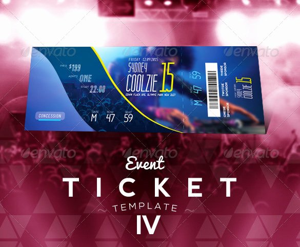 Event Ticket Template Photoshop Lovely 115 Ticket Templates Word Excel Pdf Psd Eps
