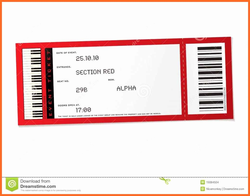 Event Ticket Template Photoshop Luxury Template Concert Ticket Template